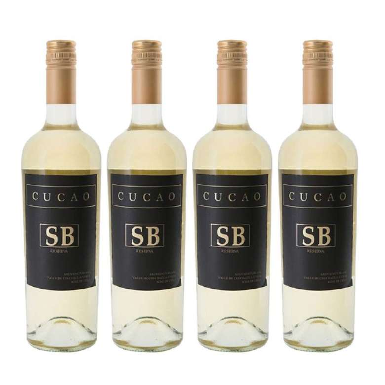 4x Vino Cucao Reserva Sauvignon Blanc 750cc