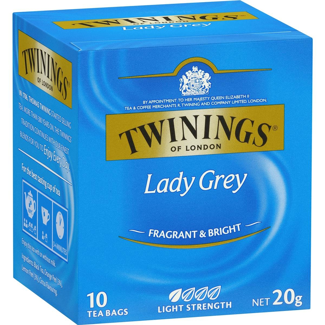 Te Twinings Lady Grey 10 Bolsitas