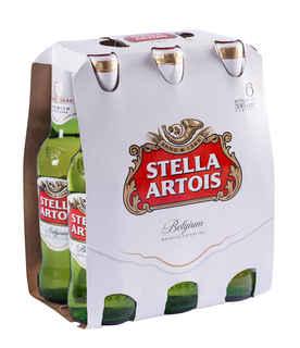 6x Cerveza Stella Artois en Botellas 330cc