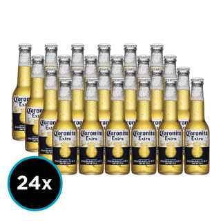 24x Cervezas Coronitas Extra Botellas 207cc