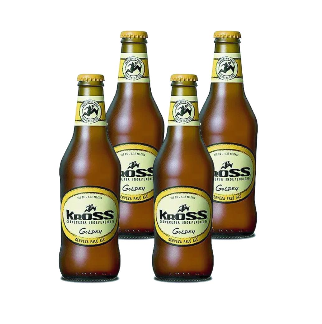 4x Cerveza Kross Golden Ale en Botellas 330cc