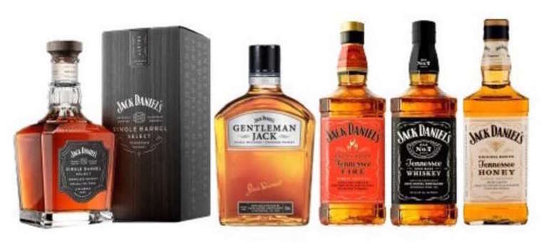 JACK PACK EXPERTO: Jack Daniels Single Barrel + Gentleman Jack + Jack Daniels Fire + Jack Daniels N7 + Jack Daniels Honey