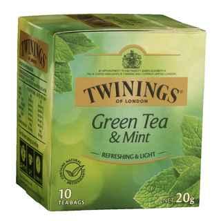 Te Twinings Verde Con Menta 10 Bolsitas