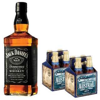 Jack Daniels N7 750cc + 8x Austral Calafate Botellas 330cc