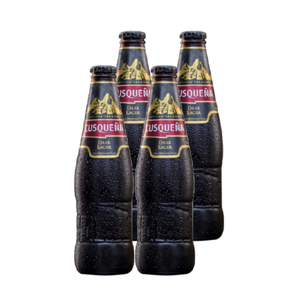 4x Cerveza Cusqueña Dark en Botellas 330cc