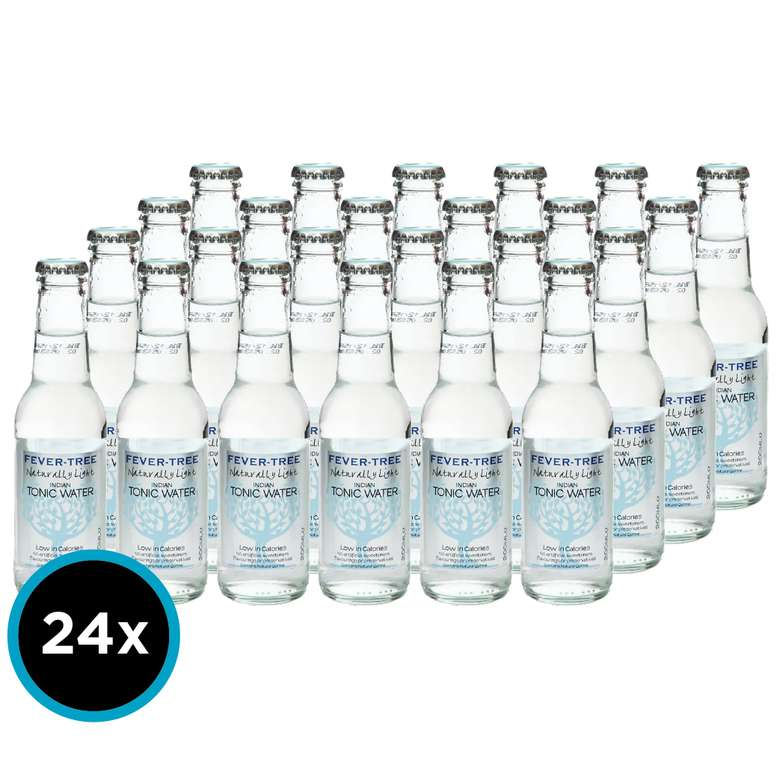 24x Agua Tónica Fever Tree Indian Naturally Light 200cc