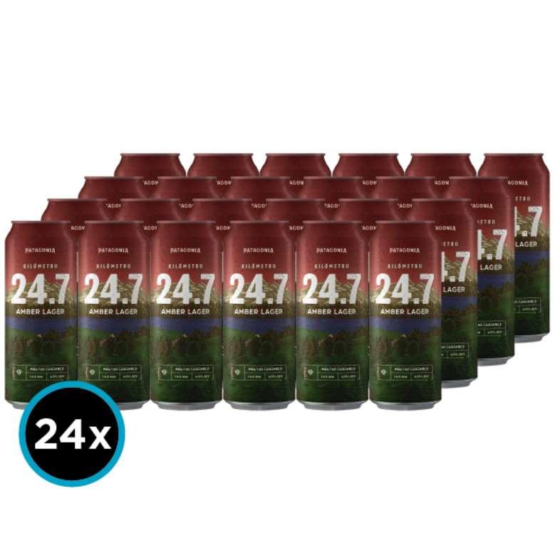 24x Cerveza KM 24.7 Amber Ale en Latas 473cc