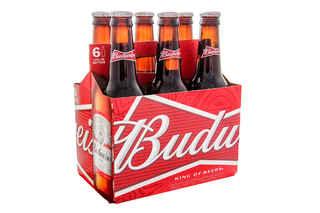 6x Cerveza Budweiser en Botellas 355cc