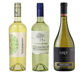 Vino Veramonte Reserva Sauvignon Blanc 750cc + Vino Casas Del Bosque Reserva Sauvignon Blanc + Vino Ventisquero Grey Chardonnay 750cc
