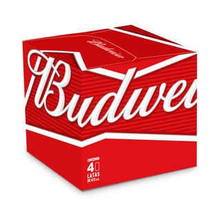 4x Cerveza Budweiser en Latas 473cc