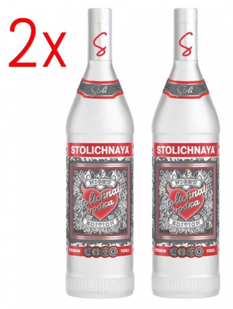 2x Vodka Stolichnaya Night Edition 750cc