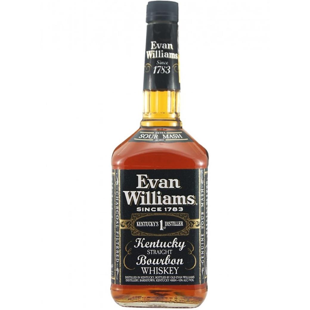 Whiskey Bourbon Evan Williams Black 750cc