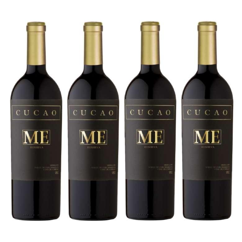4x Vino Cucao Reserva Merlot 750cc