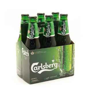 6x Cerveza Carlsberg en Botellas 330cc