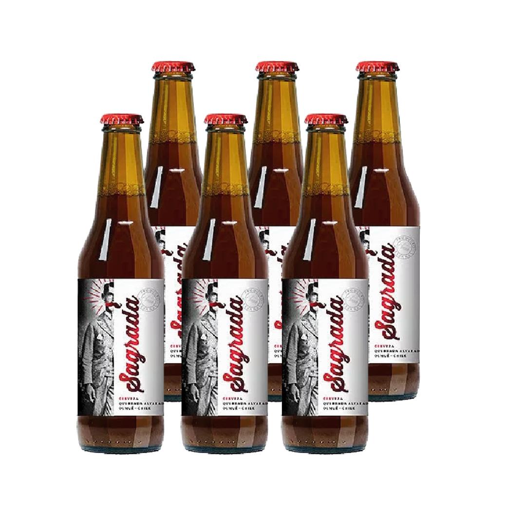 6x Cerveza Sagrada Amber Ale en Botellas 330cc