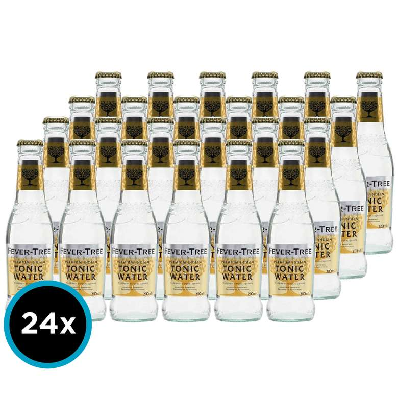 24x Tonica Fever Tree Indian 200cc
