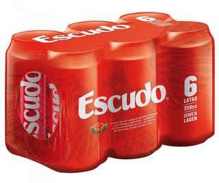 6x Cerveza Escudo Lata 350cc