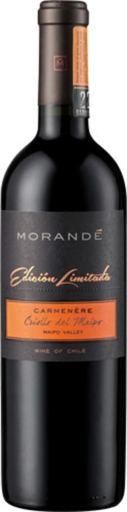 Vino Morande Edición Limitada Criollo Del Maipo Carmenere 750cc