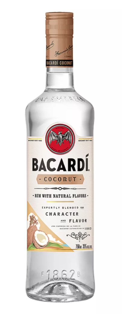 Ron Bacardi Coconut 750cc 35º alc.