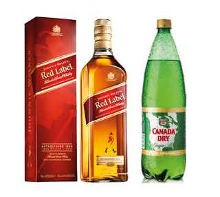 Johnnie Walker Red Label 750cc + Canada Dry Ginger Ale 1.5 Lts