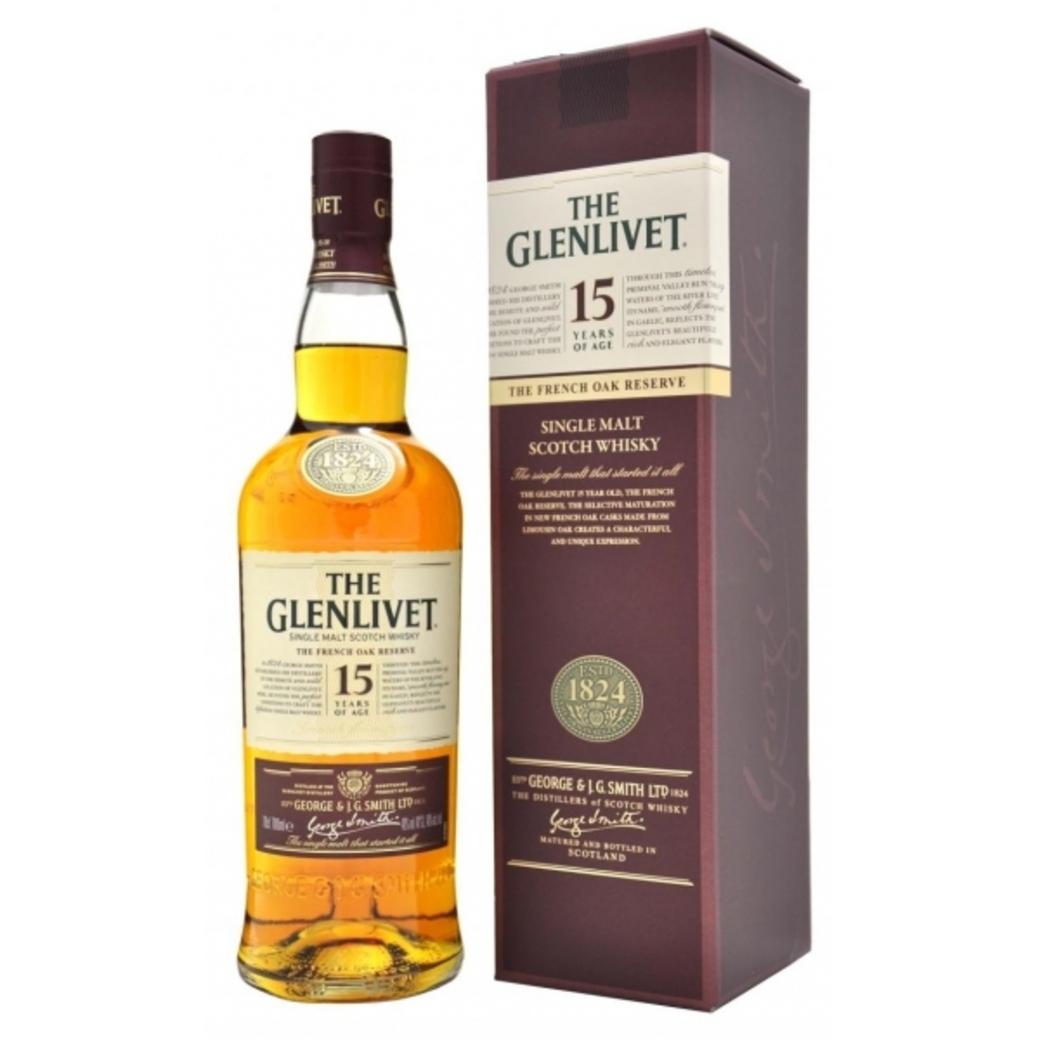 Whisky The Glenlivet Single Malt 15 años 700cc