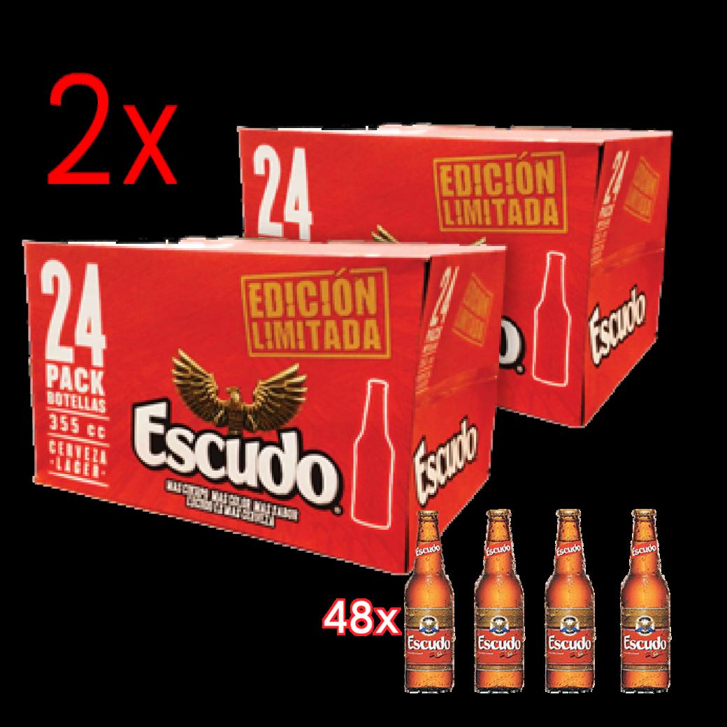 2x Pack de 24 Escudo 355cc en Botellas