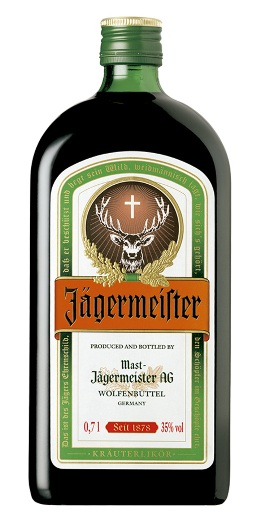 Licor Jagermeister 700cc 35º alc.