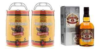 2x Barril Kunstmann 5 Litros + Chivas Regal 12 años 750cc