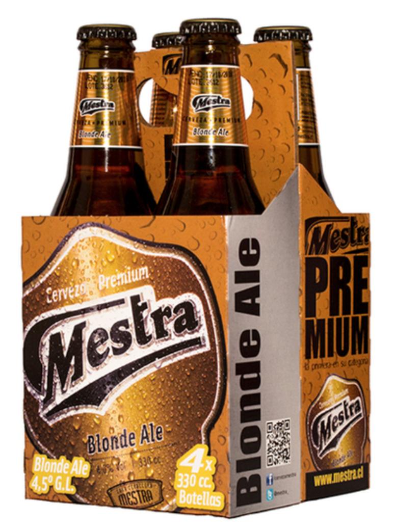 4x Cerveza Mestra Blonde Ale en Botellas 330cc
