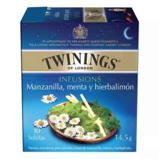 Te Twinings Manzanilla / Menta / Hierbalimón 10 Bolsitas