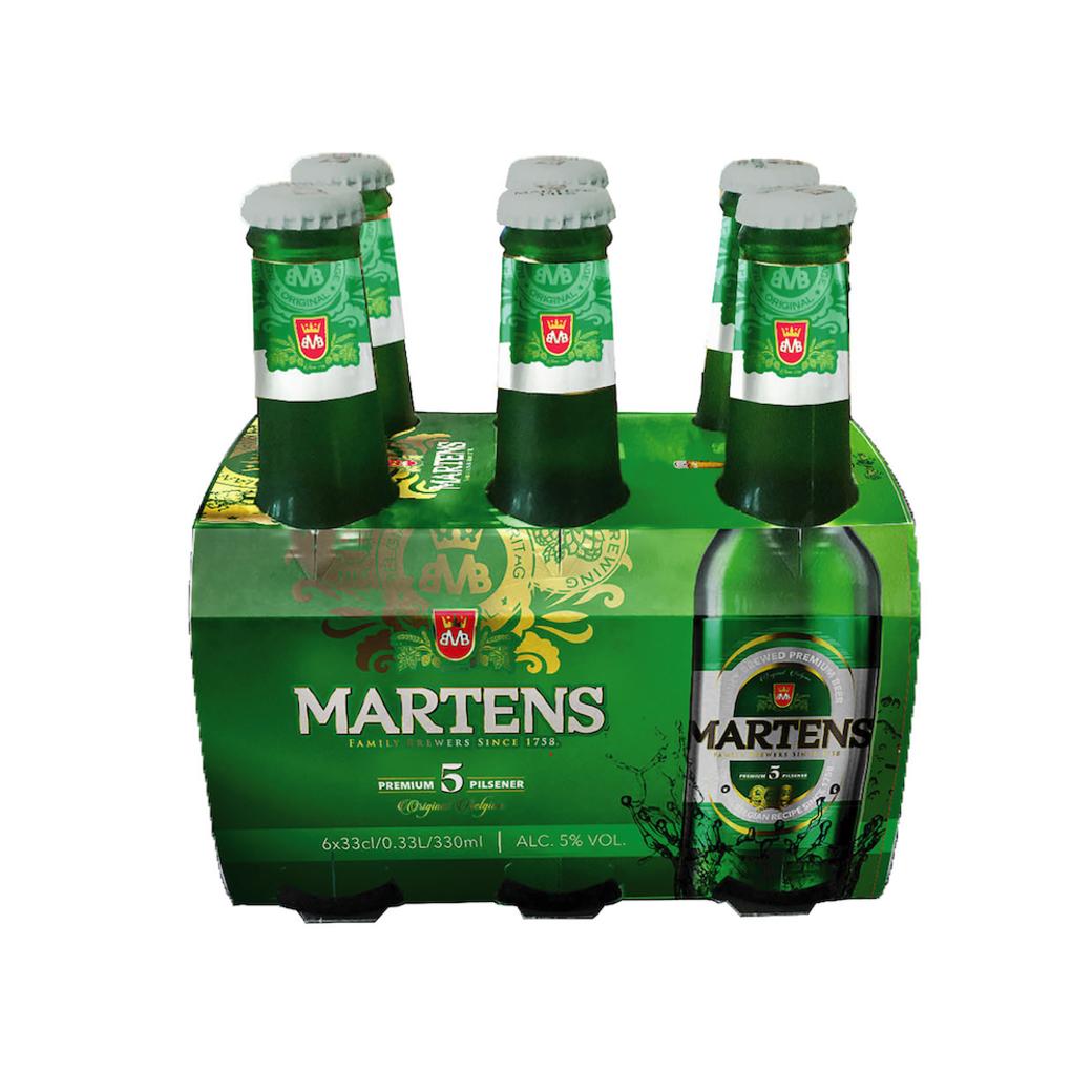 6x Cerveza Martens Pilsener en Botellas 330cc 5º alc.