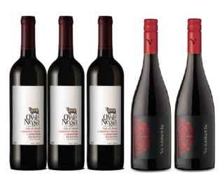 3x Oveja Negra Cabernet Franc/Carmenere 750cc + 2x Vino Veramonte Pinot Noir Reserva 750cc