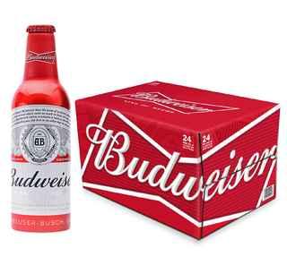 24x Cervezas Budweiser Botellas Aluminio 355cc