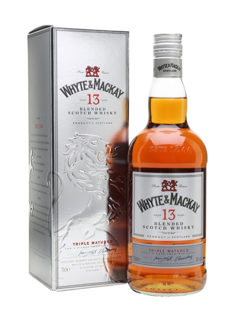 Whisky Whyte and Mackay 13 años 700cc