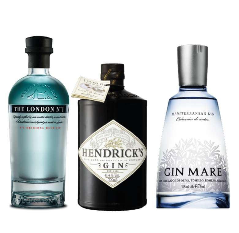 PACK GIN EXPERTO: Gin The London Nº1 700cc + Gin Hendricks 700cc + Gin Mare 700cc