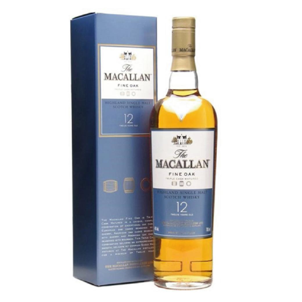 Whisky The Macallan Fine Oak 12 Años 700cc