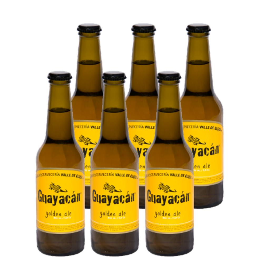 6x Cerveza Guayacan Golden Ale Botella 330cc