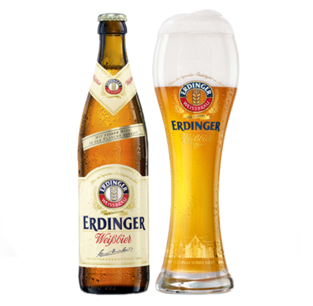 Cerveza Erdinger Weisßbier Botella 1000cc + Vaso Erdinger