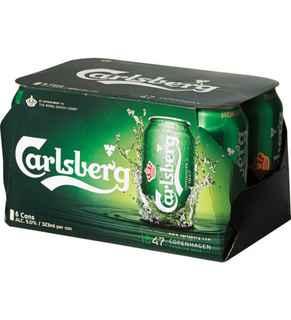 6x Cerveza Carlsberg en Latas 330cc