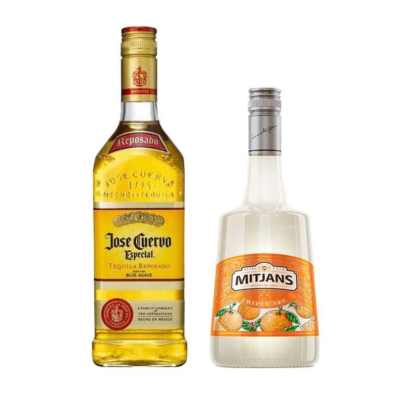 MARGARITA PACK: Tequila Jose Cuervo Especial Reposado 750cc + Triple Sec Mitjans 750cc