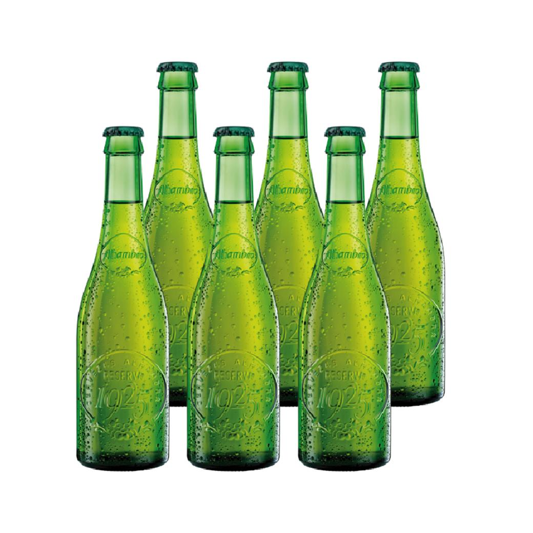 6x Cerveza Alhambra 1925 en Botellas 330cc