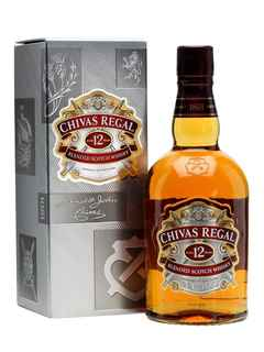Whisky Chivas Regal 12 años 750cc 40º alc.
