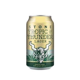 Cerveza Stone Brewing Tropic of Thunder Lager en Lata 355cc 5,8º alc.