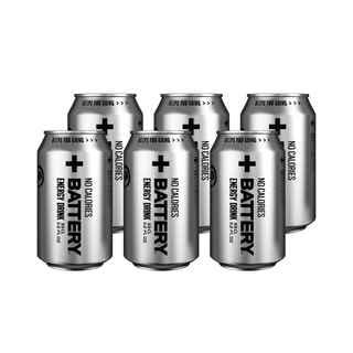 6x Bebida Energetica Battery Sin Azúcar 330cc