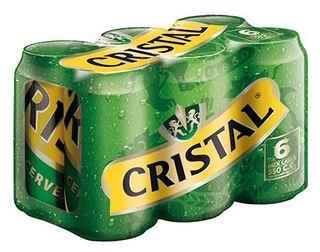 6x Cerveza Cristal Lata 350cc