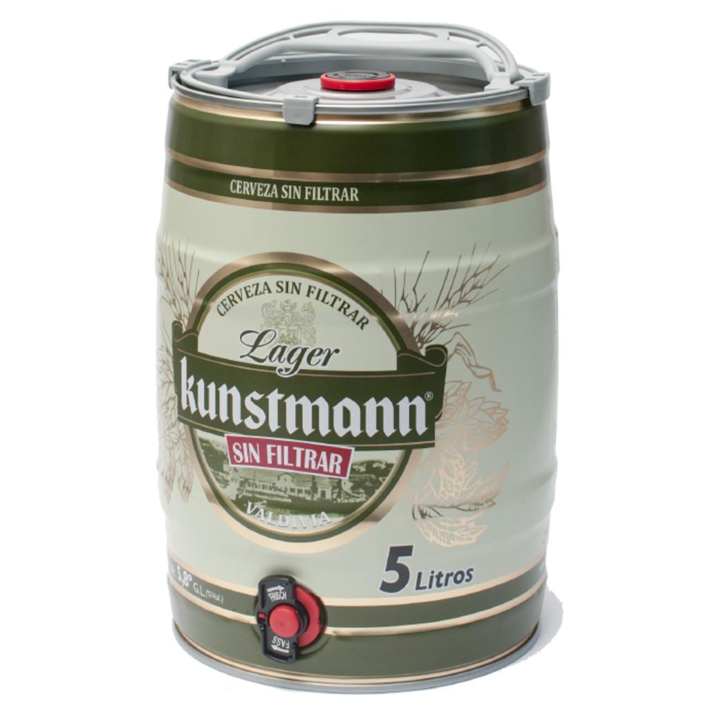 Barril de Cerveza Kunstmann Lager Sin Filtrar de 5 Litros [VENCE 16/8]
