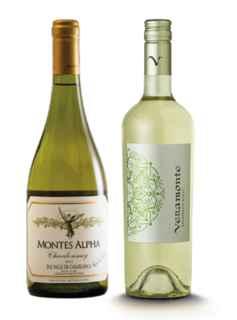 Vino Montes Alpha Chardonnay 750cc + Vino Veramonte Sauvignon Blanc reserva 750cc