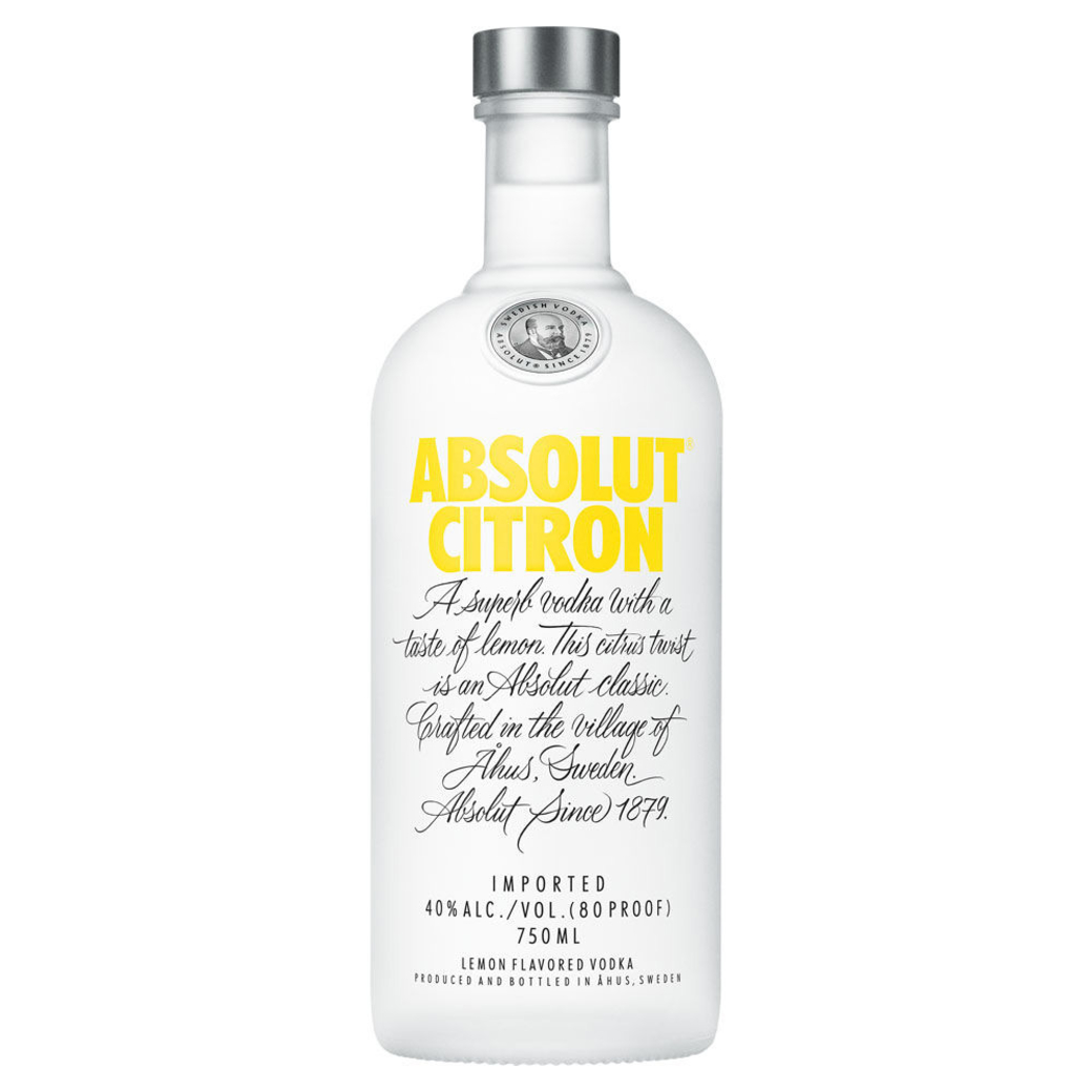 Vodka Absolut Citron 750cc