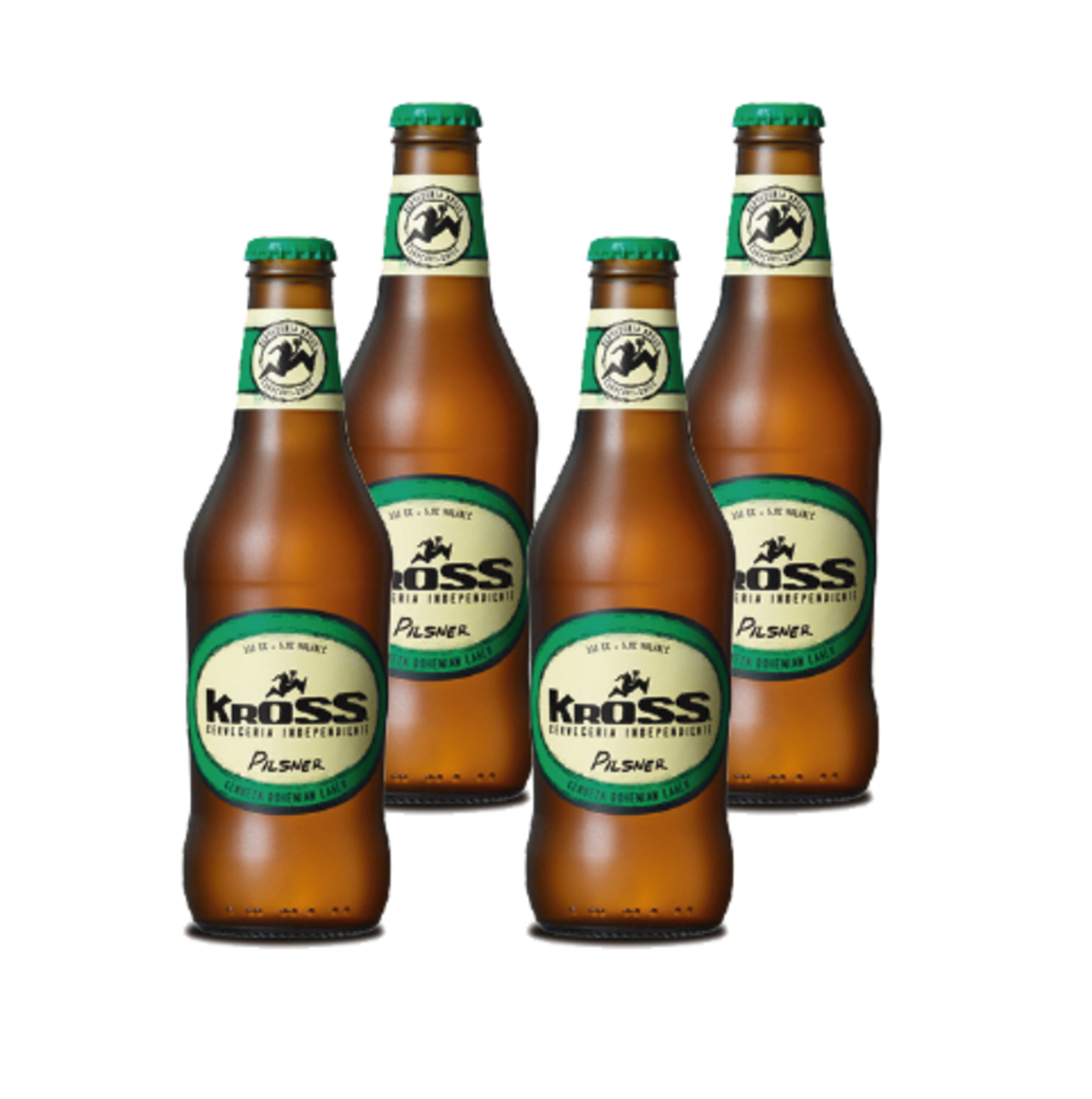 4x Cerveza Kross Pilsner en Botellas 330cc