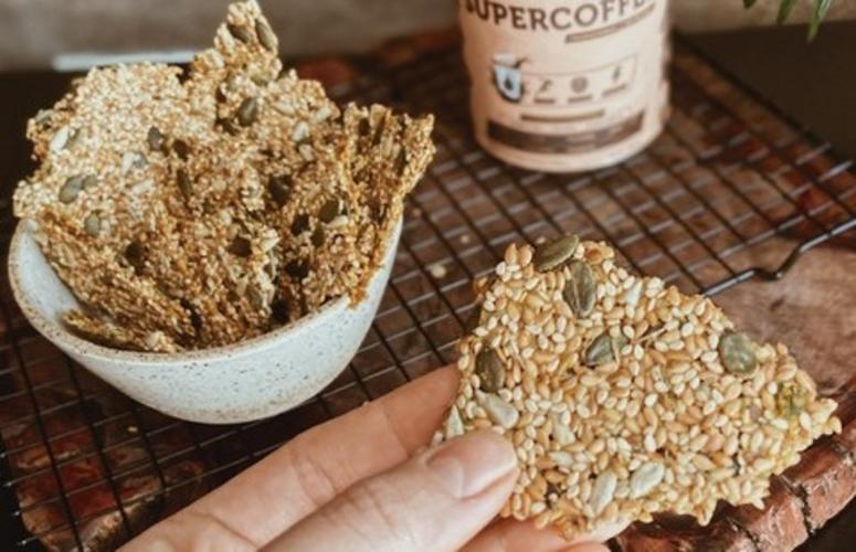 Receita: cracker de sementes